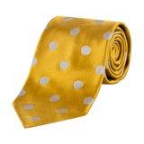 Classic Yellow Polka Dot Tie