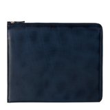 Navy Burnished Leather iPad Case