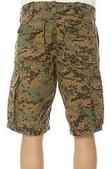 The Vintage Paratrooper Cargo Shorts in Olive Digital Camo
