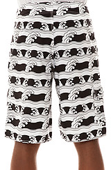 The Oleada Boardshorts in Black and White