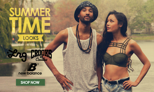 Summer Tanks from Crooks, LRG, BBC and more | New Balance 574's | Cargo and Boardshorts from Rothco and RVCA