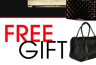 FREE GIFT. Perfumania weekender bag FREE with purchases of $75 or more.