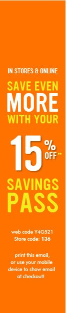 15% Savings Pass