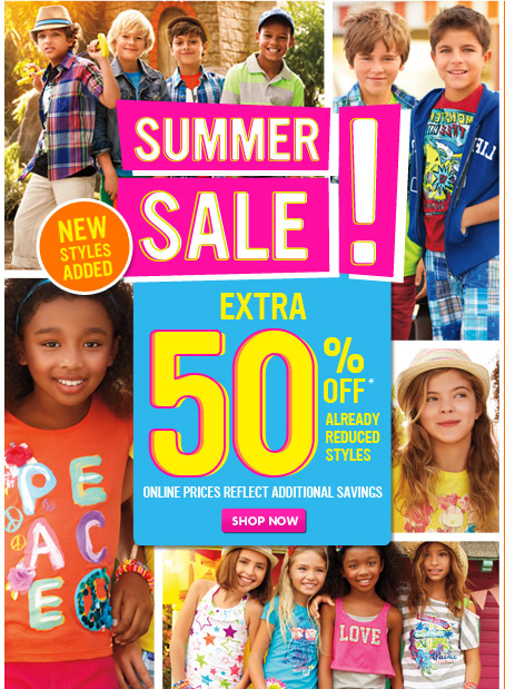 Extra 50% Off Summer Sale!