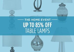 UP TO 85% OFF: TABLE LAMPS