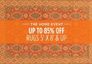 UP TO 85% OFF: RUGS 5' X 8' & UP