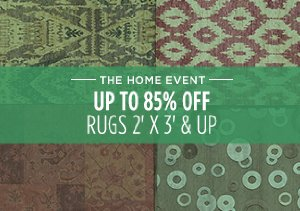 UP TO 85% OFF: RUGS 2' X 3' & UP