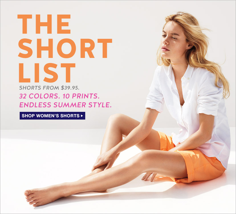 THE SHORT LIST   SHOP WOMEN'S SHORTS