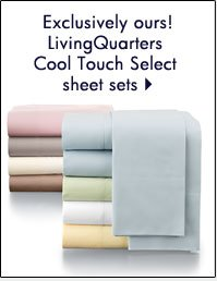 LivingQuarters Cool Touch Select sheet sets.