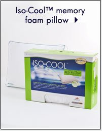 Iso-Cool™ memory foam pillow. Shop now.