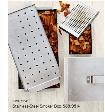 EXCLUSIVE - Stainless-Steel Smoker Box, $39.95