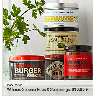 EXCLUSIVE - Williams-Sonoma Rubs & Seasonings, $10.95