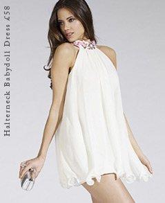 Halterneck Babydoll Dress