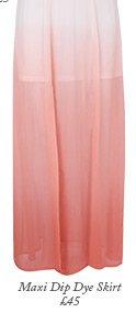 Maxi Dip Dye Skirt