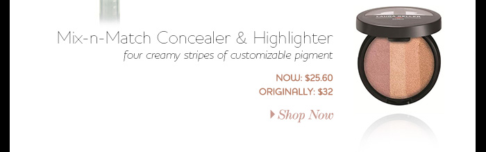 Mix-n-Match Concealer & Highlighter four creamy stripes of customizable pigment Now: $25.60 Originally: $32.00