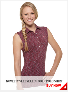 NOVELTY SLEEVELESS GOLF POLO SHIRT