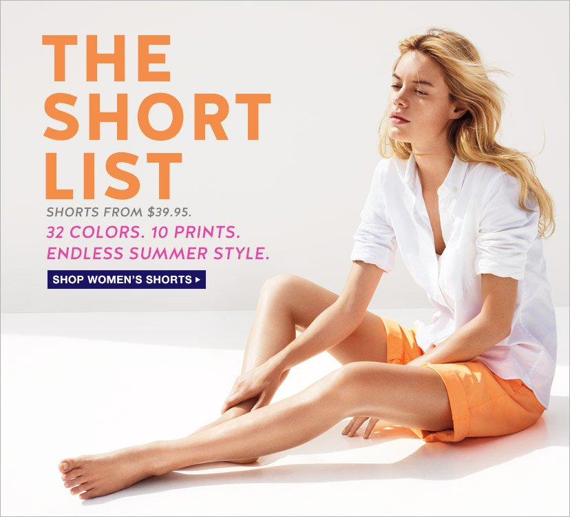 THE SHORT LIST | SHOP WOMEN'S SHORTS