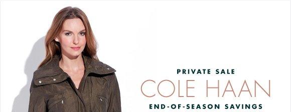 PRIVATE SALE COLE HAAN END-OF-SEASON SAVINGS