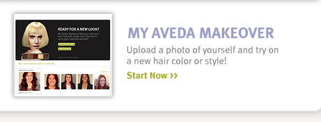 my aveda makeover start now.