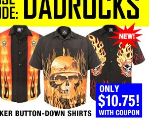 Biker Button-up Shirts for Dad!