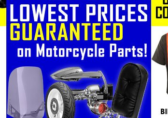 Lowest Prices on Motorcycle Parts!