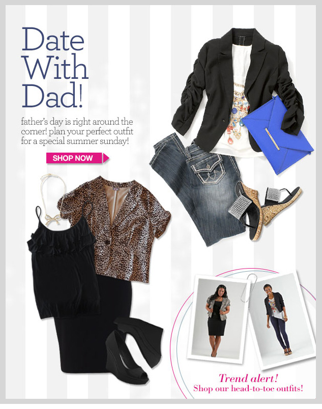 Date with DAD! Father's Day is just around the corner! Plan your perfect outfit for a special Summer Sunday!