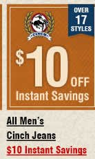 All Mens Cinch Jeans Instant Savings