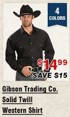 Shop Mens Gibson Trading Co Solid Twill Western Shirt