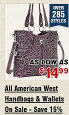 All American West Handbags and Wallets On Sale