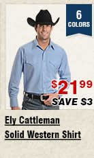 Shop Mens Ely Cattleman Solid Western Shirt