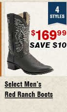 Shop Mens Select Red Ranch Boots
