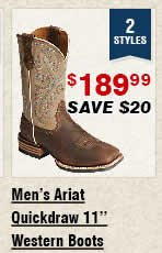 Shop Mens Ariat Quickdraw Western Boots