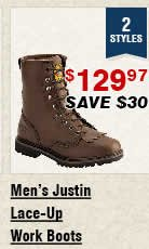 Shop Mens Justin Lace Up Work Boots