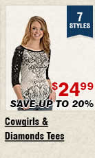 Shop Womens Cowgirls and Diamonds Tees