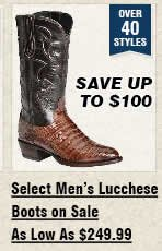 Select Mens Lucchese Boots On Sale