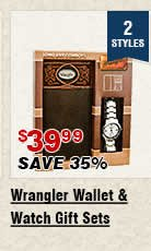 Shop Mens Wrangler Wallets and Watch Sets