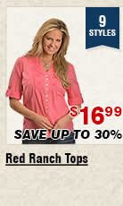 Shop Womens Red Ranch Tops