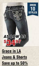 Shop Womens Grace in LA Jeans and Shorts