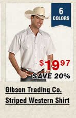 Shop Mens Gibson Trading Co Striped Western Shirt