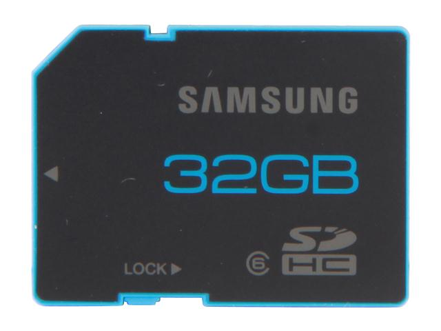 SAMSUNG 32GB Secure Digital High-Capacity (SDHC) Flash Card Model MB-SSBGB/AM