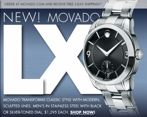 NEW! MOVADO LX | SHOP NOW!