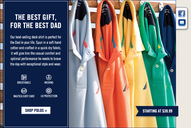 The best gift, for the best Dad! Shop Polos.
