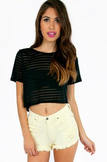 BACK OF THE LINE CROP TOP 19