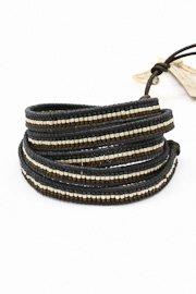 Chan Luu Americana Bead Bracelet In Grey