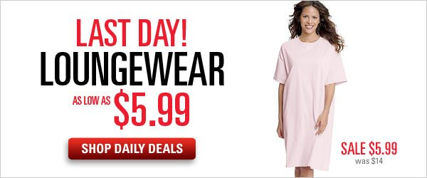 Daily Deals: Loungewear as low as $5.99