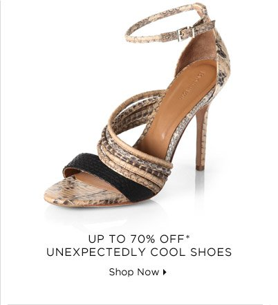 Up To 70% Off* Unexpectedly Cool Shoes