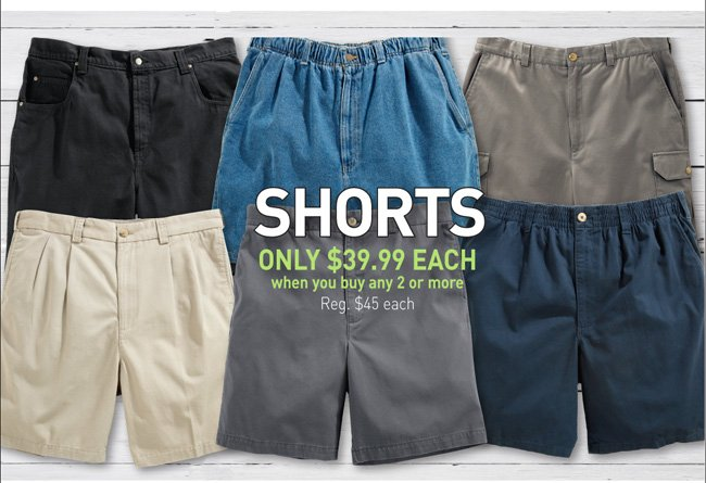 Harbor Bay & Canyon Ridge Shorts Mix and Match