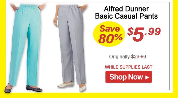 Silver Lake Pants - Save 80% - Now Only $5.99 Limited Time Offer