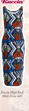 Kuccia High Back Midi Dress