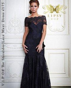 V I P Off The Shoulder Lace Maxi Dress